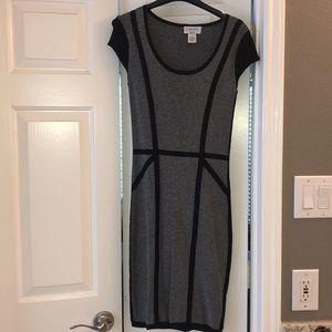 Black/Gray Body Con Dress